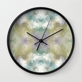 """""""Flowerbed"""" triangles design Wall Clock"""