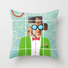 Hockney illustration Throw Pillow