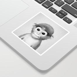 Baby Monkey - Black & White Sticker