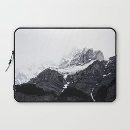 Moody snow capped Mountain Peaks - Nature Photography Laptop Sleeve