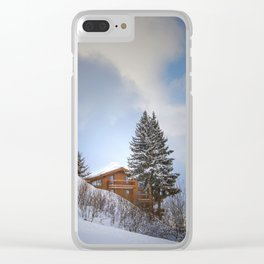 Chalet mountain cloud Clear iPhone Case