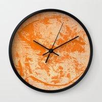 pisces Wall Clocks featuring Pisces by Fernando Vieira