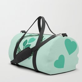 Cute heart in a nest Duffle Bag