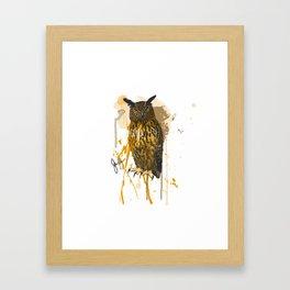 Brutus Eurasian Eagle Owl Framed Art Print