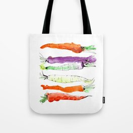 Rainbow Gardens: Carrots Tote Bag