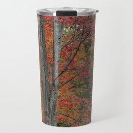 Fall Tree - Red - Square Travel Mug