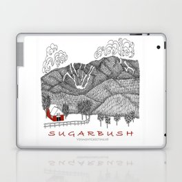 Sugarbush Vermont Serious Fun for Skiers- Zentangle Illustration Laptop & iPad Skin