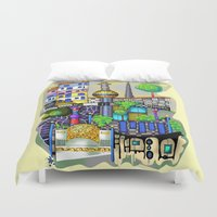 vienna Duvet Covers featuring Vienna  by Aleksandra Jevtovic