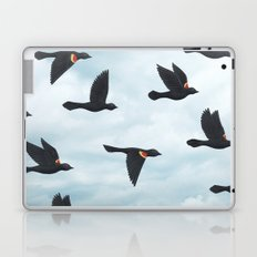 red-winged blackbirds and blue sky Laptop & iPad Skin