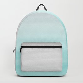 Touching Aqua Blue Gray Watercolor Abstract #1 #painting #decor #art #society6 Backpack