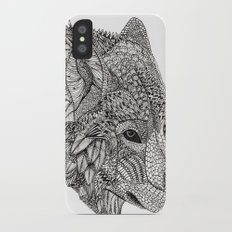 Tribal Wolf Slim Case iPhone X