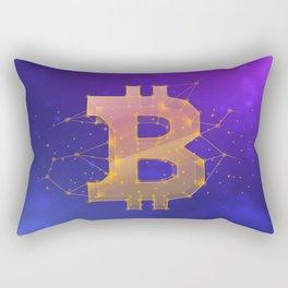 BITCOIN Galaxy Rectangular Pillow