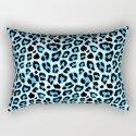 Blue & Black Leopard Print Pattern by nicnak85