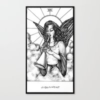 tarot Canvas Prints featuring Judgement Tarot by Corinne Elyse
