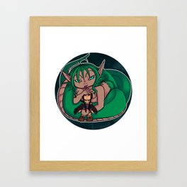 cute snake Framed Art Print