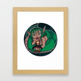 cute snake Framed Art Print