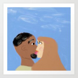 Love is Color Blind Art Print