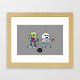 Zombie+Bot Framed Art Print