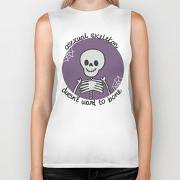 Asexual Skeleton Doesn't Want to Bone Biker Tank