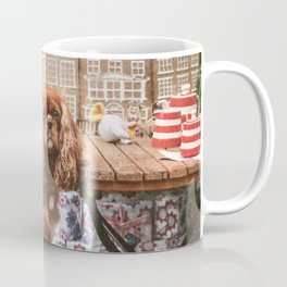 King Charles Spaniel at the Cafe Coffee Mug