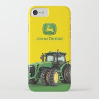 john green iPhone & iPod Cases featuring John Deere Green Tractor by rumahcreative