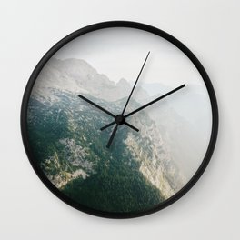 Look down on the forest Wall Clock