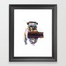 Dozer Bulldozer Framed Art Print