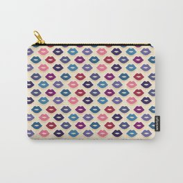 Retro Lips Pattern Carry-All Pouch