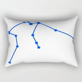 Aquarius (Blue & White) Rectangular Pillow