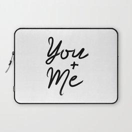Printable Art You & Me Typography Art Inspirational Print Wall Art Motivational Print Laptop Sleeve