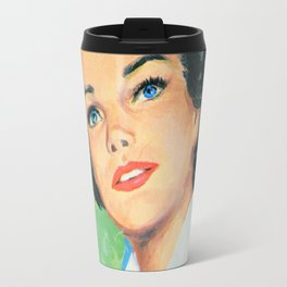 Black Haired Beauty Travel Mug