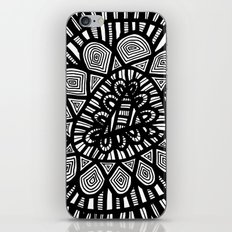 Black and White Doodle 7 iPhone Skin
