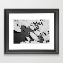 Winter Contrast Framed Art Print