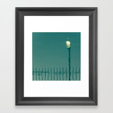 Lamp Post Reflected Framed Art Print