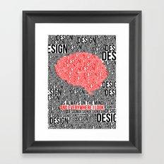 Design. Framed Art Print