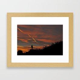 Pensive Sunrise Framed Art Print