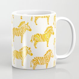 Zebras – Yellow Palette Coffee Mug