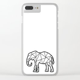 Triangular elephant Clear iPhone Case