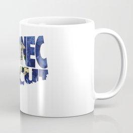 Connecticut Typographic Flag Map Art Coffee Mug