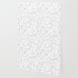 wildflowers  line drawing black and white Wallpaper