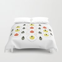 japan Duvet Covers featuring Japan by MidPark Prints