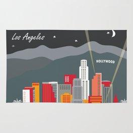 Los Angeles, California - Skyline Illustration by Loose Petals Rug