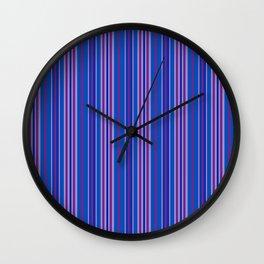 Purple Pop Stripes 1 Wall Clock