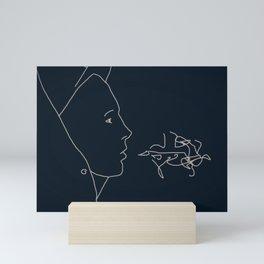 Teenager contour Mini Art Print