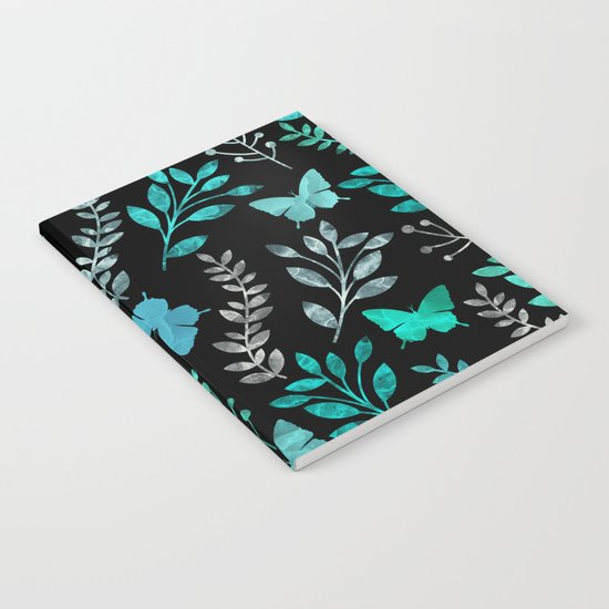Watercolor flowers & butterflies IV Notebook