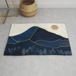 Mt Hood Sapphire Blue Wilderness Rug