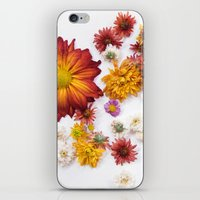leah flores iPhone & iPod Skins featuring FLORES by Miles of Light