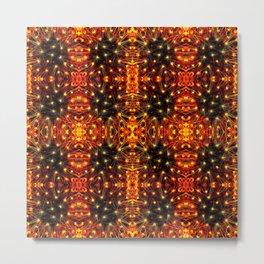 Red Yellow Sparkling Pattern Metal Print