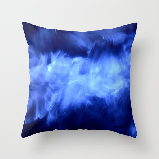 Purple Lavender White Abstract Brush Strokes Throw Pillow by Corbin Henry Society6