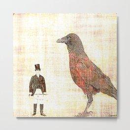 Dompteur de corbeau  Metal Print